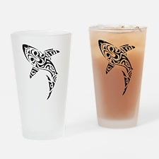 Shark Tattoo design Drinking Glass