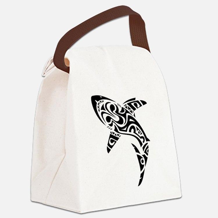 Shark Tattoo design Canvas Lunch Bag