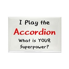 play accordion Rectangle Magnet
