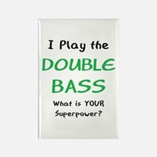 play double bass Rectangle Magnet