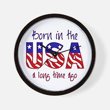 born in the USA Wall Clock