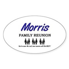 Morris Family Reunion Oval Decal