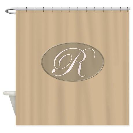 Monogrammed R Shower Curtain by MonogrammedShowerCurtains