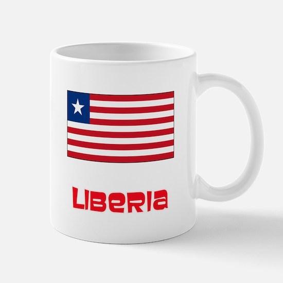 Liberia Flag Retro Red Design Mugs