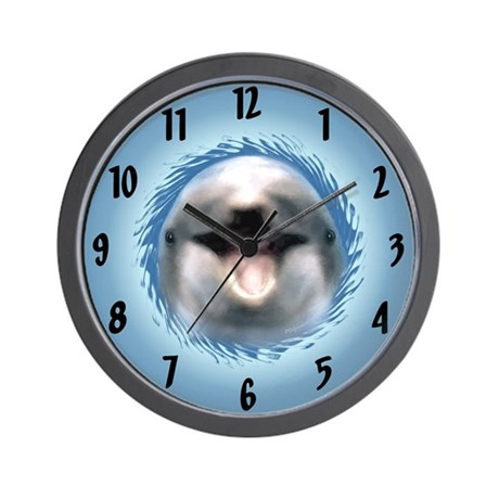 Smile Dolphin Wall Clock