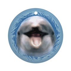 Smile Dolphin Ornament (Round)