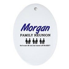 Morgan Family Reunion Oval Ornament
