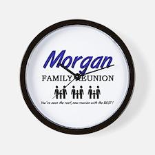 Morgan Family Reunion Wall Clock