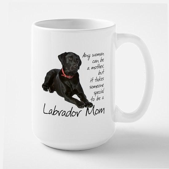 Black Lab Mom Stainless Steel Travel Mugs
