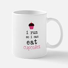 I run so I can EAT Cupcakes Mugs