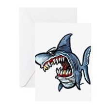 Cool Shark Greeting Cards (Pk of 10)