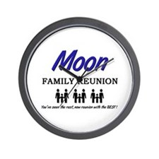 Moon Family Reunion Wall Clock
