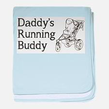 Daddy's Running Buddy baby blanket