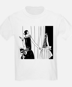 1920s vintage flappers black white drawing T-Shirt