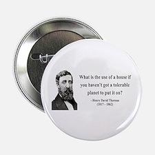 "Henry David Thoreau 19 2.25"" Button"