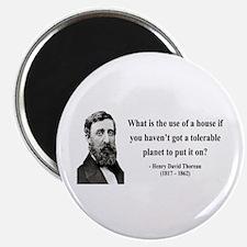 "Henry David Thoreau 19 2.25"" Magnet (100 pack)"