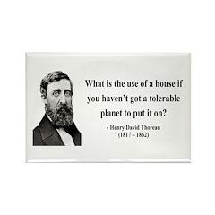 Henry David Thoreau 19 Rectangle Magnet (100 pack)