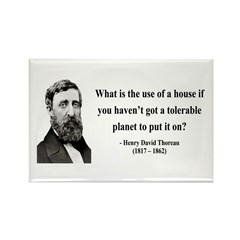 Henry David Thoreau 19 Rectangle Magnet (10 pack)