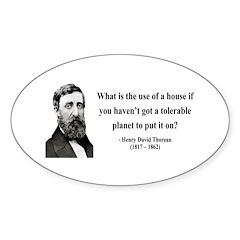 Henry David Thoreau 19 Oval Decal