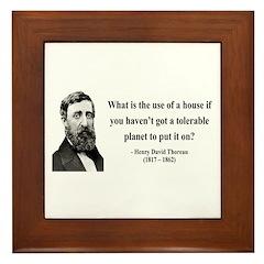Henry David Thoreau 19 Framed Tile