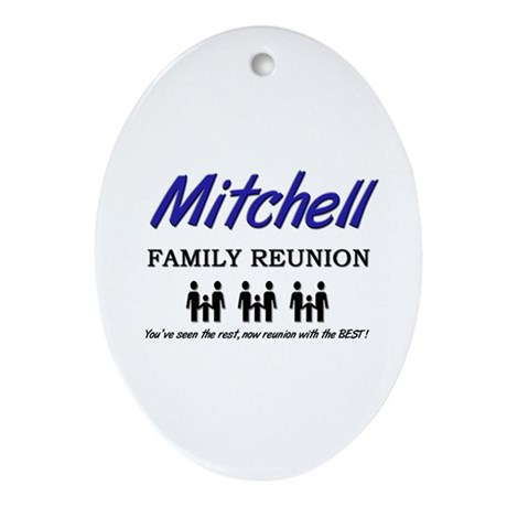 Mitchell Family Reunion Oval Ornament