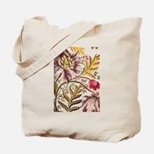 Leaf Flower_Java Batik Tote Bag