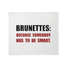 Brunettes Smart Throw Blanket