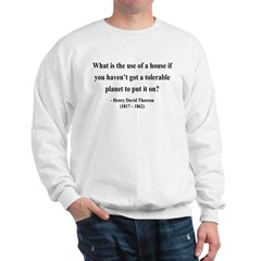 Henry David Thoreau 19 Sweatshirt