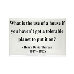 Henry David Thoreau 19 Rectangle Magnet (10 pack)