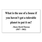 Henry David Thoreau 19 Rectangle Sticker