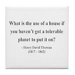 Henry David Thoreau 19 Tile Coaster