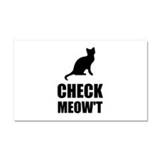Check Meow Cat Car Magnet 20 x 12
