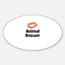 Animal Rescuer Oval Decal
