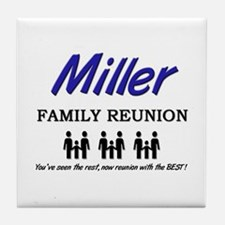 Miller Family Reunion Tile Coaster