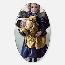 Unique Navy kids Sticker (Oval)