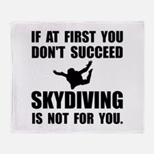 Skydiving Not For You Throw Blanket