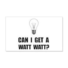 Watt Watt Light Bulb Wall Decal