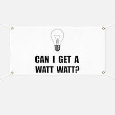 Watt Watt Light Bulb Banner