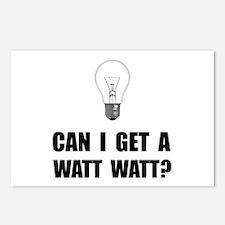 Watt Watt Light Bulb Postcards (Package of 8)
