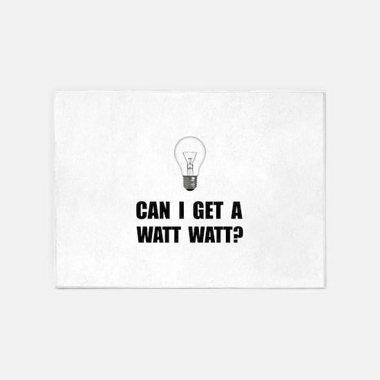 Watt Watt Light Bulb 5'x7'Area Rug