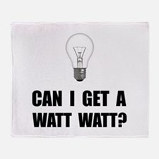 Watt Watt Light Bulb Throw Blanket