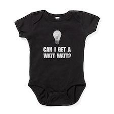 Watt Watt Light Bulb Baby Bodysuit