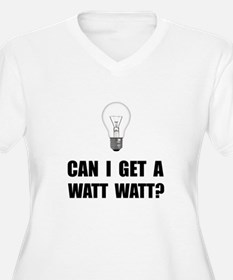 Watt Watt Light Bulb Plus Size T-Shirt