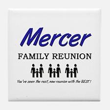 Mercer Family Reunion Tile Coaster
