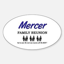 Mercer Family Reunion Oval Decal