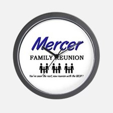 Mercer Family Reunion Wall Clock