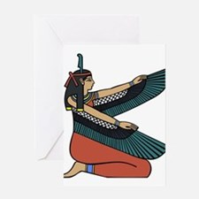 egyptian goddess art drawing Greeting Cards