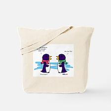 Flying Penguins Tote Bag