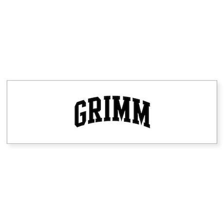 GRIMM (curve-black) Bumper Sticker