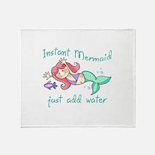 INSTANT MERMAID Throw Blanket